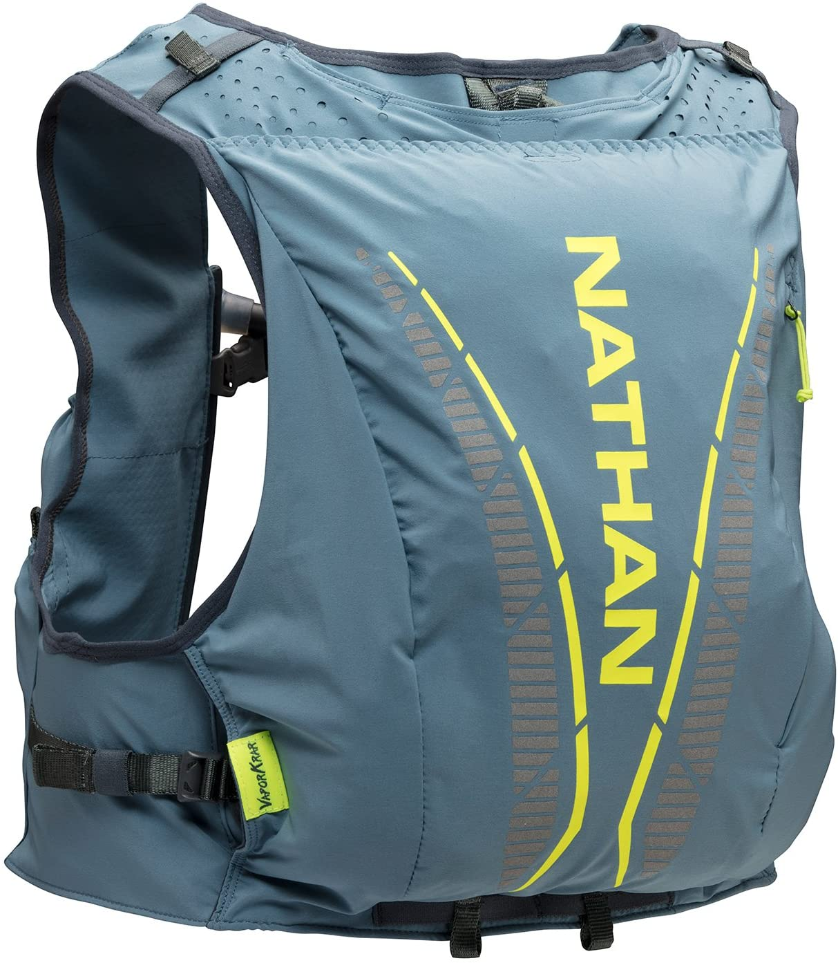 Nathan Vaporkrar Hydration Pack, Running Vest with 1.8L Hydration Bladder Reservoir, Men's