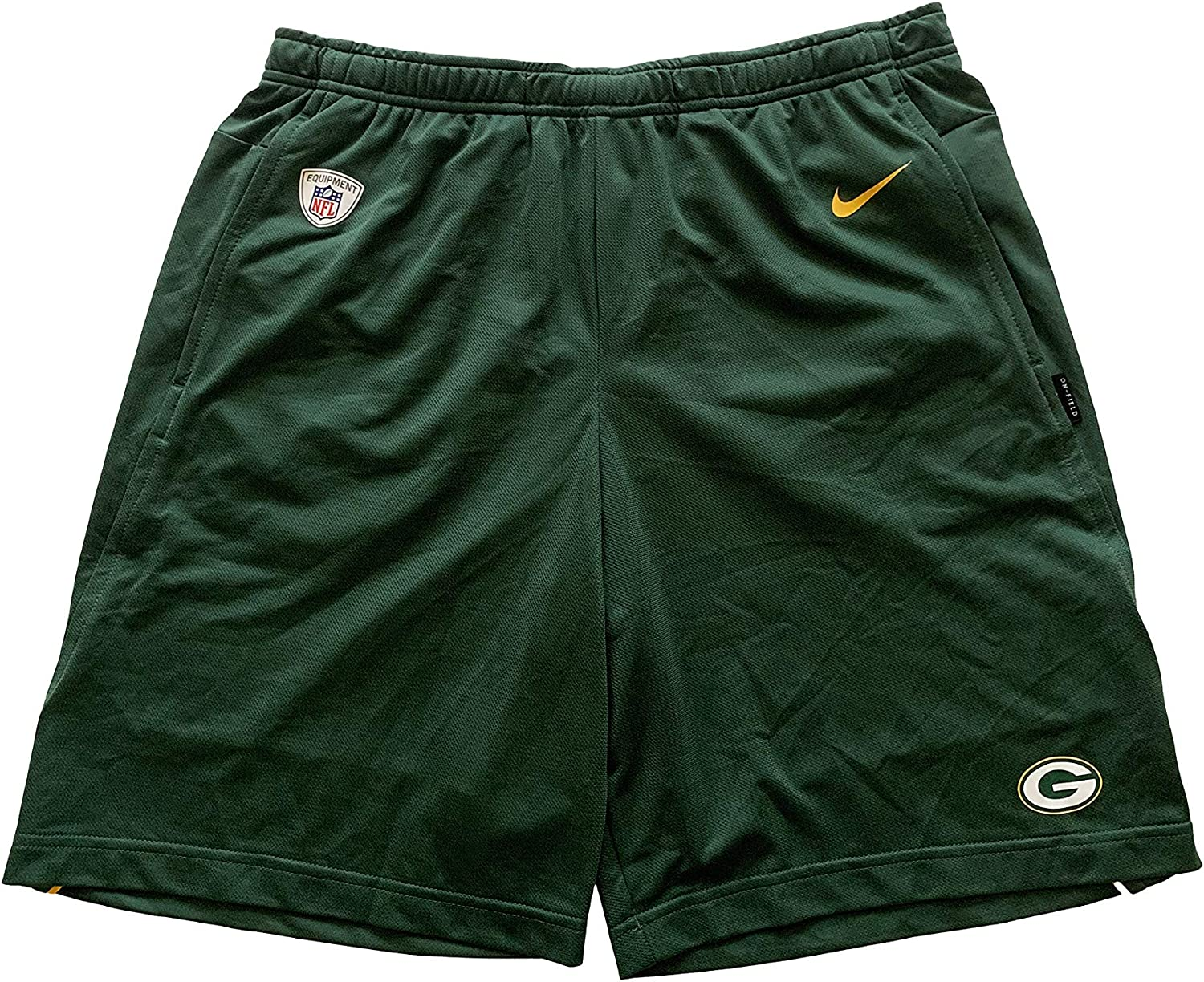 Nike Green Bay Packers NFL On Field Official Shorts Dri-Fit