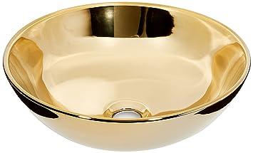 Art Bath Lav Bowl Or Basin Gold 40 X 15 Cm Amazon Com