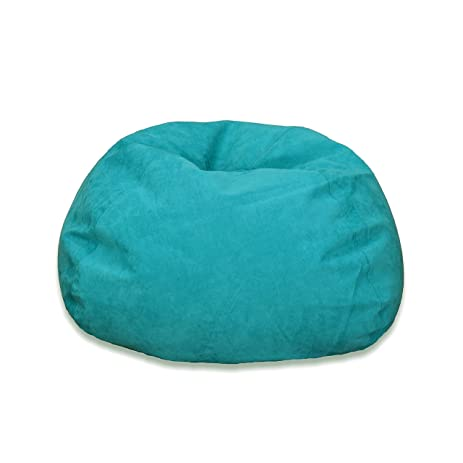 Terrific Amazon Com Michael Anthony Large Turquoise Microsuede Bean Caraccident5 Cool Chair Designs And Ideas Caraccident5Info