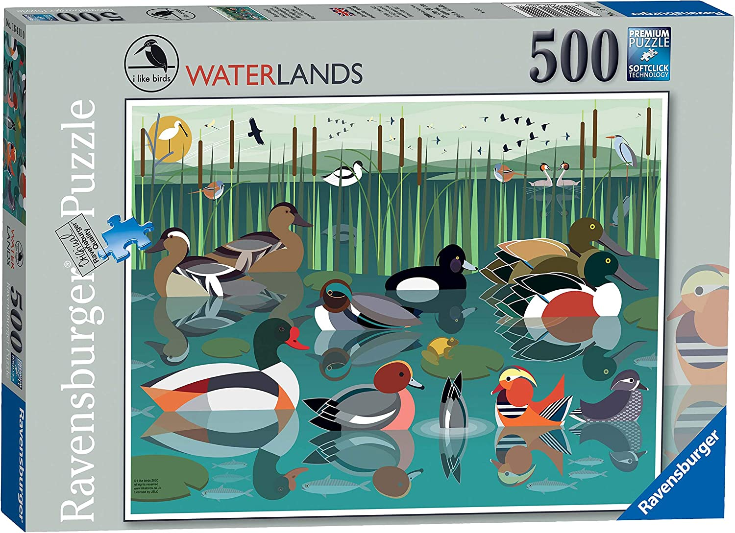 Ravensburger I Like Birds Waterlands 500 Piece Jigsaw Puzzle for Adults Kids Age 10 and Up