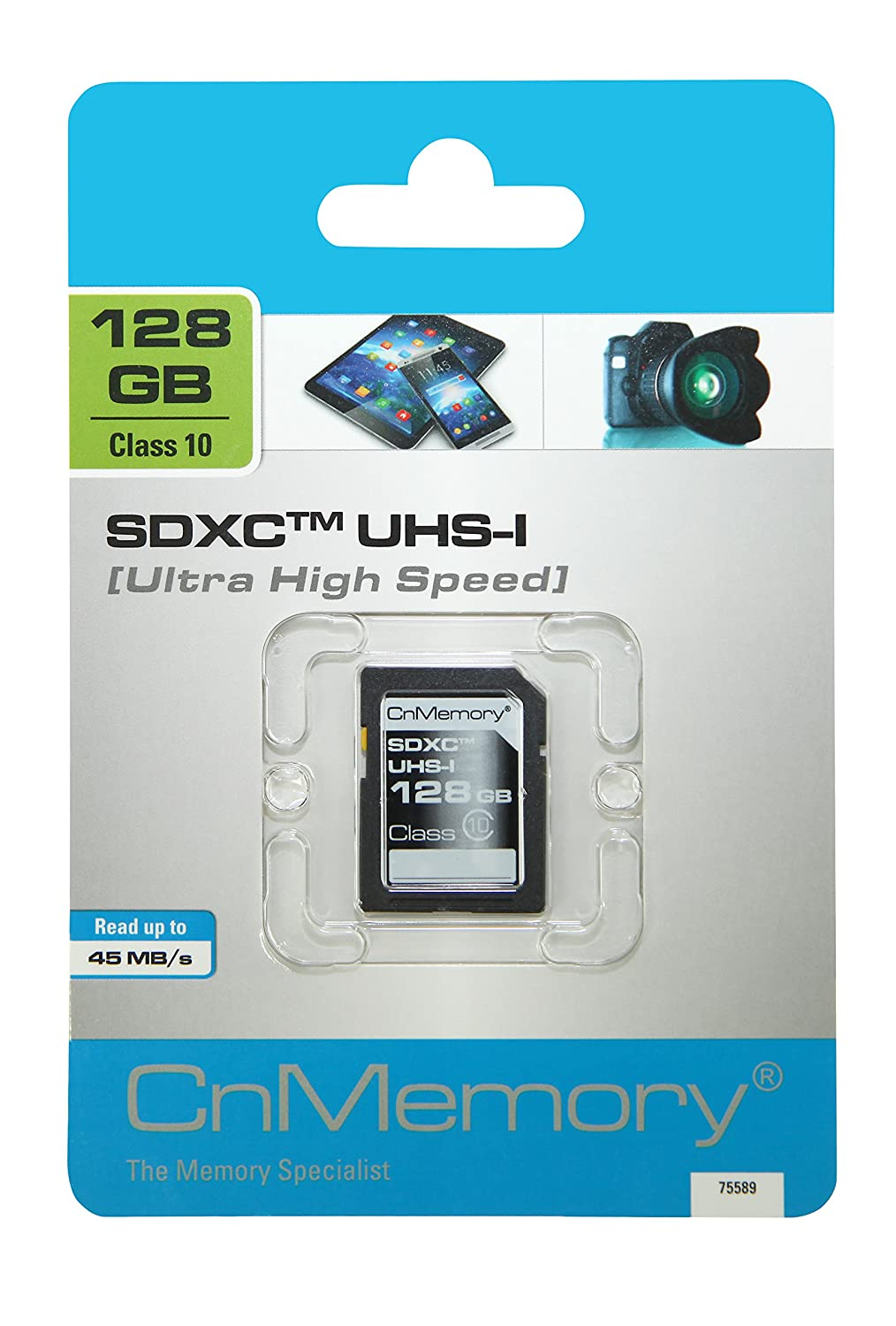 CnMemory 128 GB SDXC Memoria Flash SDHC Clase 10 UHS-I: Amazon.es ...