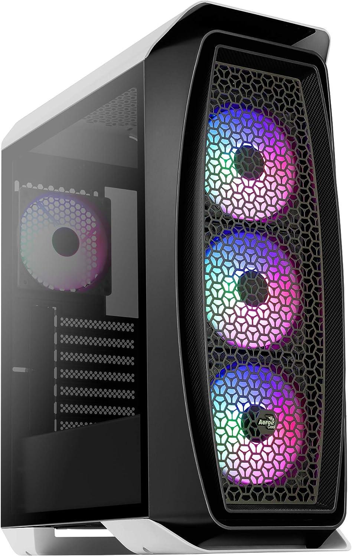 Aerocool AEROONEFROST, caja PC micro ATX, ventana lateral, 4 ventiladores, blanco: Amazon.es: Informática