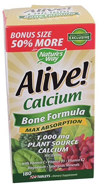 Amazon.com: Nature s Way Alive. Calcio – 180 unidades ...