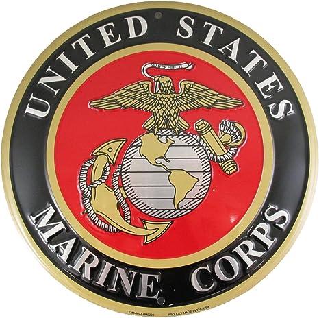 United States Marine Corps Tin Metal Sign USMC Semper Fidelis Marines