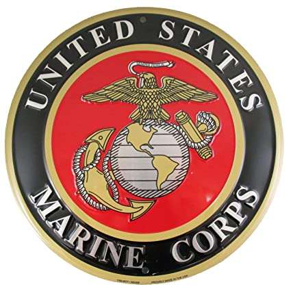 amazon com united states marines emblem metal sign us marine