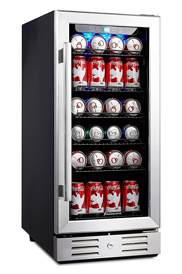 """Kalamera 15"""" Beverage cooler 96 can built-in Single Zone Touch Control"""