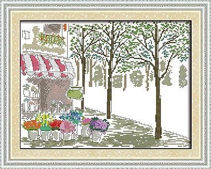 Amazon Cross Stitch Kits For Florist Eafior Diy Handmade