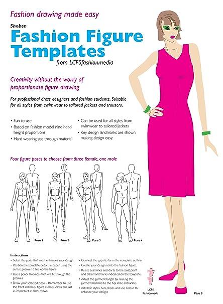 fashion figure design template set pose 1 amazon co uk diy tools