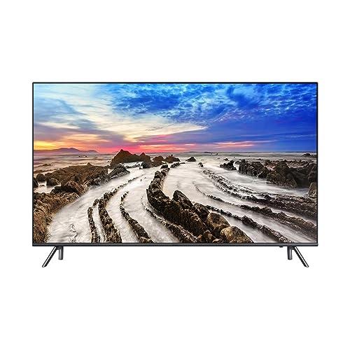 Samsung UE55MU7055 Televisor UHD 4K de 55 HDR 1000 diseño de 360 velocidad de movimiento 200 un control remoto detección automática color negro y gris
