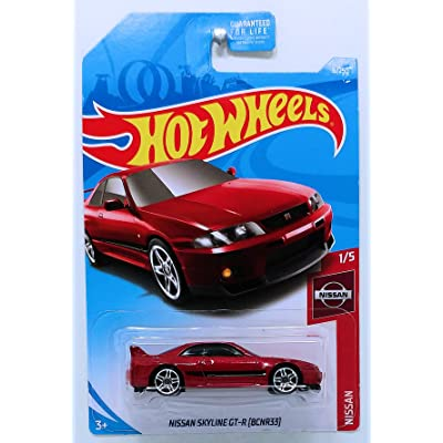 Hot Wheels 2020 Nissan Nissan Skyline GT-R (BCNR33) 6/250, Maroon: Toys & Games