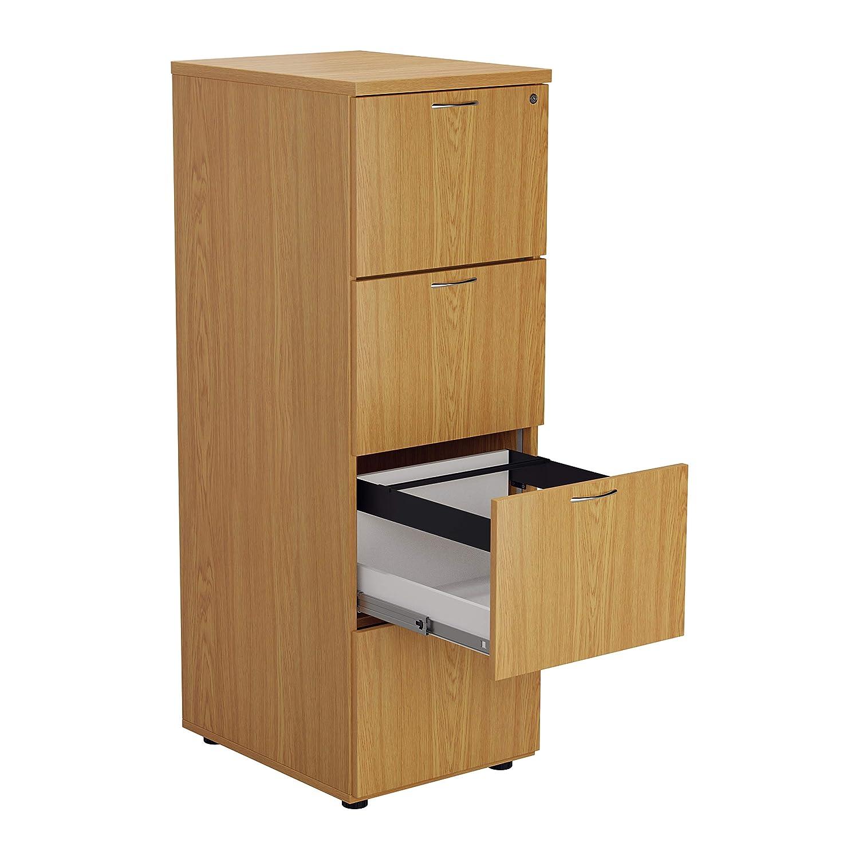 Armario archivador de madera con 4 cajones en acabado de ...