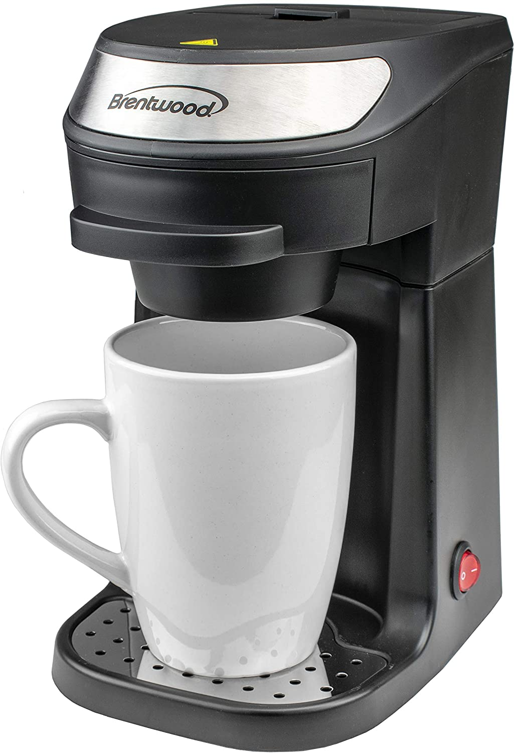 Brentwood TS-111BK Single Serve Coffee Maker with Mug, Black