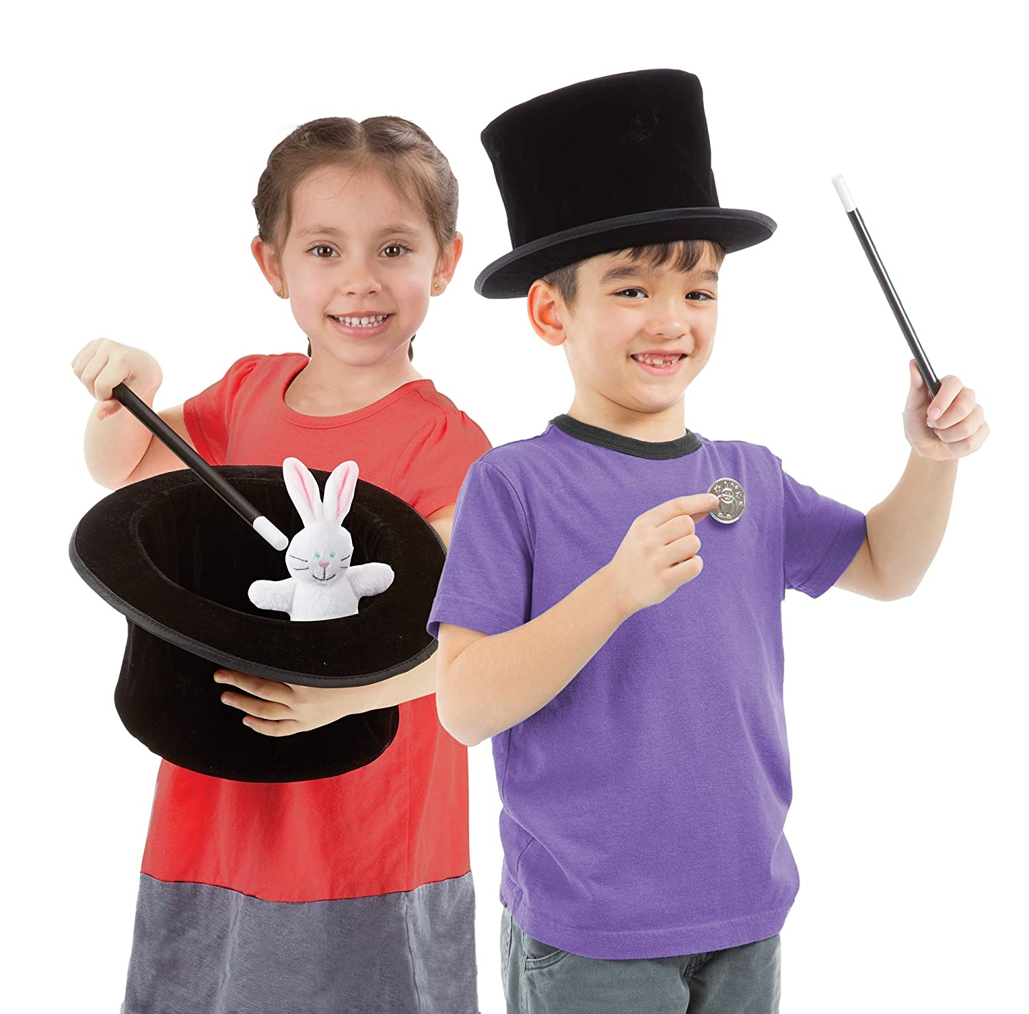 Melissa /& Doug Magic in A Snap Magicians Pop-Up Magical Hat with Tricks
