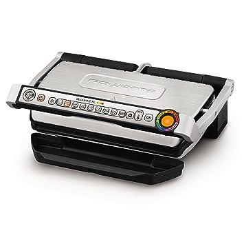 Rowenta Optigrill+XL - Parrillas eléctricas de contacto (Negro, Plata, Acero inoxidable, Rectangular, Sensor, Grid, 400 x 200 mm)