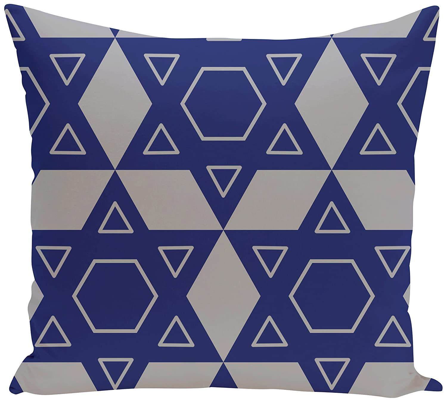 Decorative Holiday Geometric Print Pillow Light Gray,Gray E by design PHGN317GY1BL20-26 PHGN317GY1BL20-26 Star Quilt