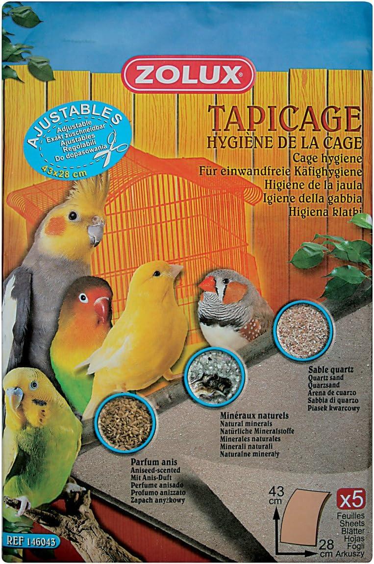 Zolux Tapicage Hygiene Fondo de jaula de pájaros, 43 x 28 cm