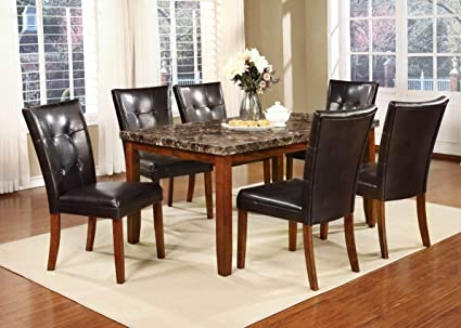 Mollai Collection 7 Pc Marble Dining Table 6