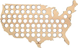 product image for USA Beer Cap Map – Beer cap holder for 70 Bottle caps made from quality birch plywood with pre-drilled holes to mount on the wall – Cool Present for Beer Lovers