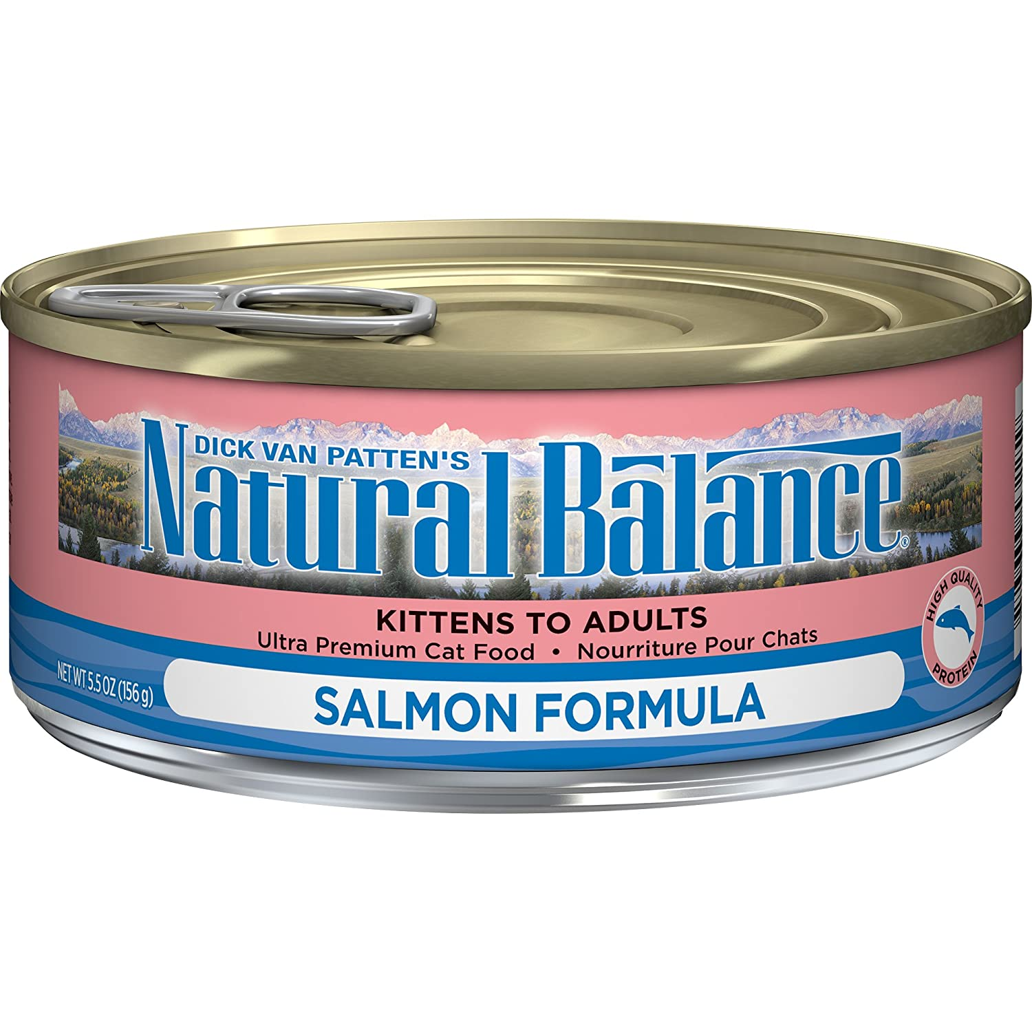 Natural Balance Salmon Formula Wet Cat Food 5.5-Ounce Can (Pack of 24)