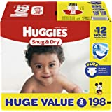 HUGGIES Snug & Dry Diapers, Size 3, 198 Count (Packaging May Vary)