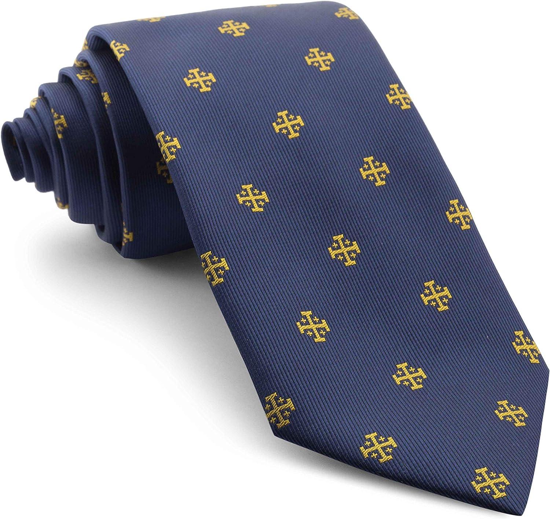Cencibel Smart Casual Corbata Cruz de Jerusalén (Marino-Dorado ...