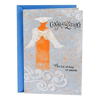 amazon com hallmark mahogany religious graduation greeting card