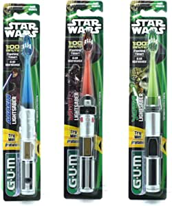 1 Gum Toothbrush Star Wars Flash Light,color may vary