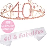 40th Birthday Tiara and Sash| Happy 40th Birthday Party