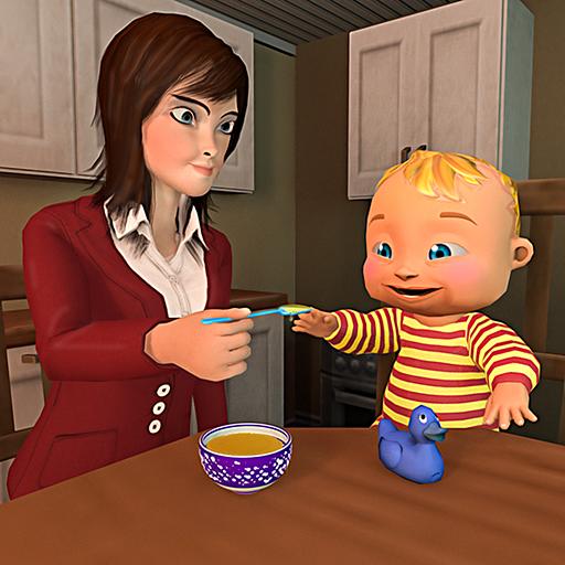 Mother Simulator 3D: Virtual Baby Simulator Happy Family Mom Games -