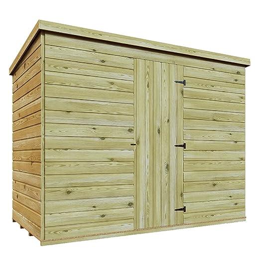 7 x 3 madera tratada a presión caseta de jardín cobertizo (Lean Tongue & Groove Pent cobertizo: Amazon.es: Jardín