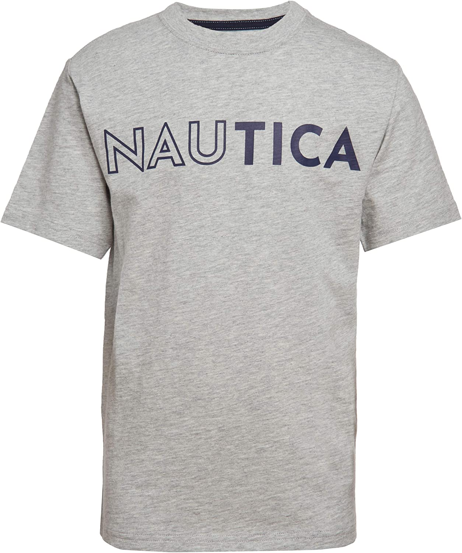 Nautica Boys Short Sleeve Chest Logo Crew Neck T-Shirt