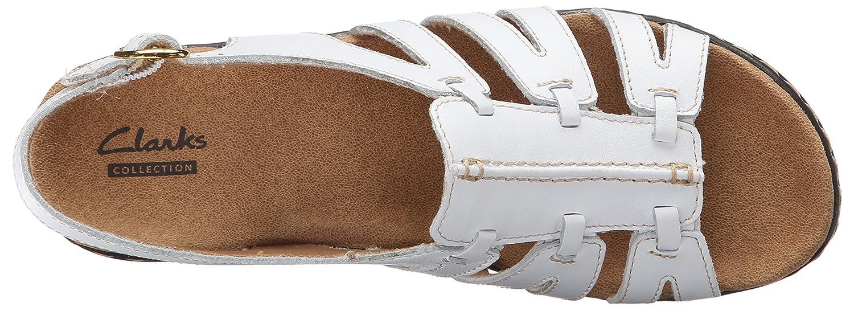 Clarks Damens's Lexi Marigold Schuhe, Weiß Leder, Leder, Leder, 12 Medium US - 61f95f