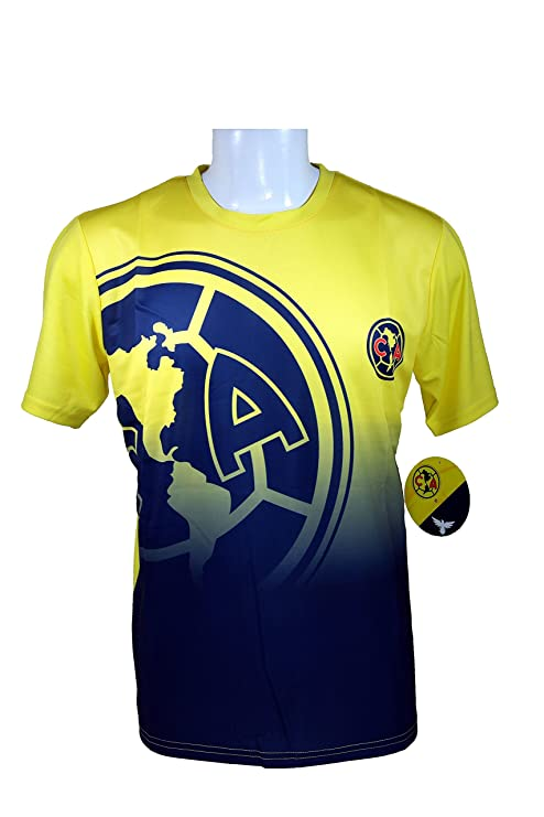 17d26490c14 Club America Soccer Official Adult Soccer Training Performance Poly Jersey  -J006 Large