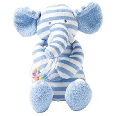 "Manhattan Toy Baby Activity Plush Toy with Ring Rattle, Blue Elephant, 10"" : Baby"