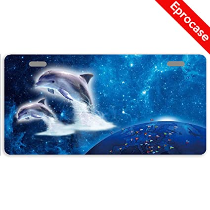 Dolphins Metal Novelty License Plate