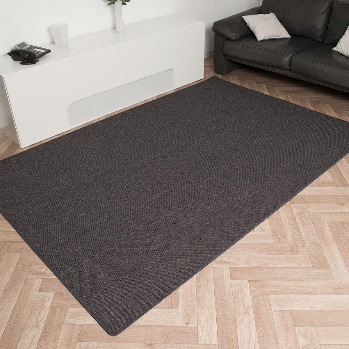 Havatex: Sisal Teppich Trumpf Grau / hypoallergene Naturfaser / schadstoffgeprüft pflegeleicht schmutzabweisend robust strapazierfähig / ideal für Wohnzimmer Schlafzimmer Kinderzimmer Flur , Größe Auswählen:270 x 400 cm