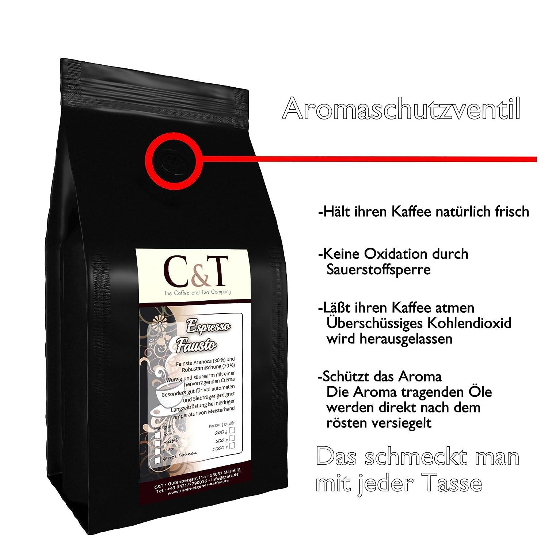 Espresso X Fausto Cafe 1000 Vollautomaten 2 Den Bohne Ganze Kaffeebohnen Für CoWBrdxe