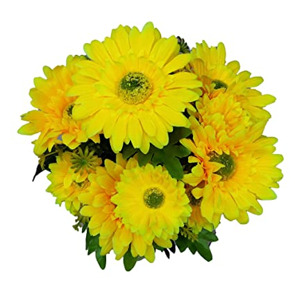 Amazon goodgoodsthailand artificial yellow gerbera bunch goodgoodsthailand artificial yellow gerbera bunch artificial flowers gerbera flowers yellow flower gerbera mightylinksfo