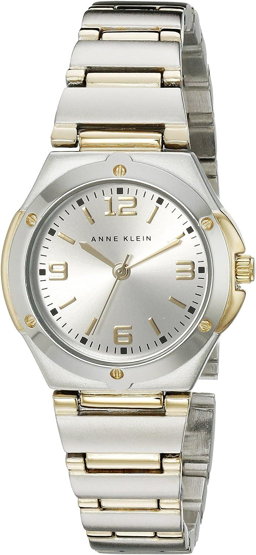 Amazon.com: Anne Klein 108655SVTT Reloj de vestir redondo de ...
