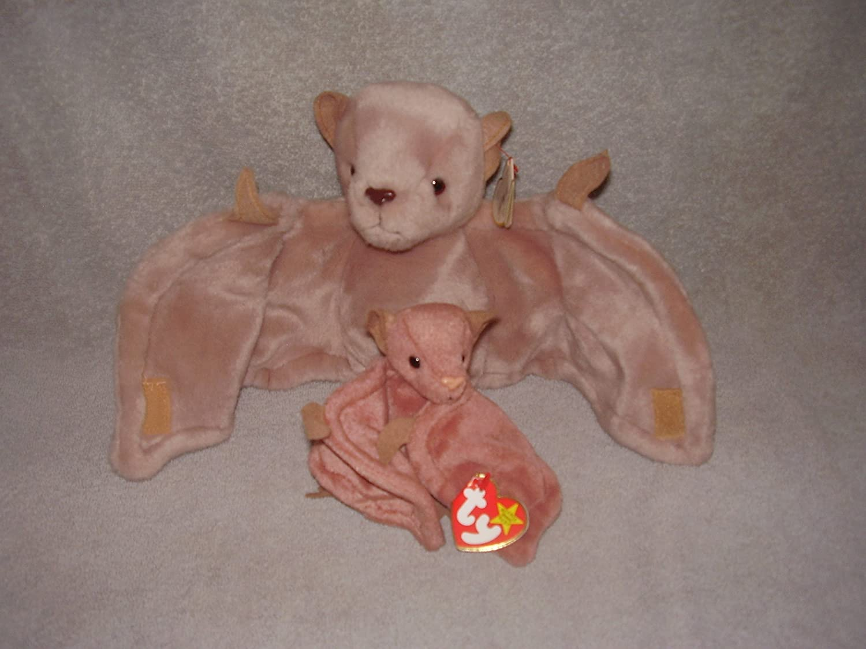 f14f106fefe Amazon.com  BATTY - TY Beanie Baby and Beanie Buddy Set - MINT  Toys   Games