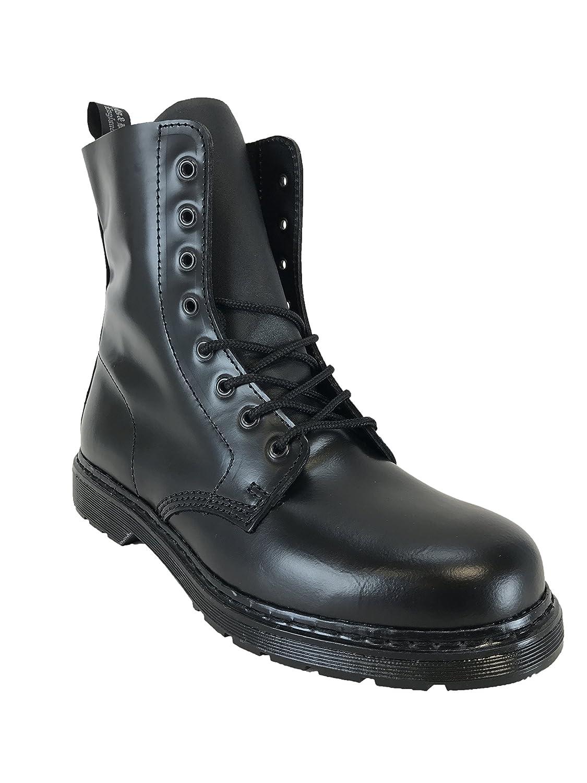 Boots & Braces - Náuticos de Piel para hombre 44 negro
