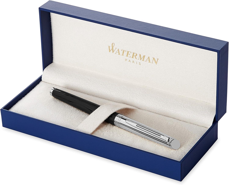 Deluxe Black Chrome Trim Waterman Expert Fountain Pen