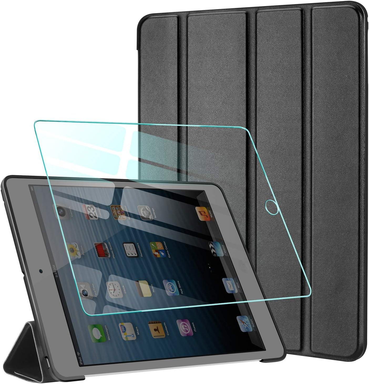 AROYI Funda Compatible con iPad 2 / iPad 3 / iPad 4 y Protector Pantalla, Carcasa Silicona Smart Cover con Soporte Función Auto Sueño Estela
