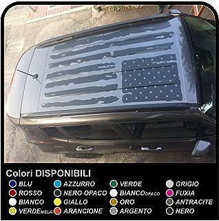 Pegatina techo etiqueta americana efecto de la bandera consumado para offroad suv calidad superior calcomanía pegatinas
