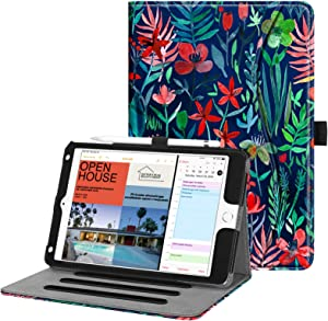 Fintie Case for iPad Mini 4 - [Corner Protection] Multi-Angle Viewing Folio Smart Stand Protective Cover with Pocket, Auto Wake/Sleep, Compatible with iPad Mini 5th Gen 2019 (Jungle Night)