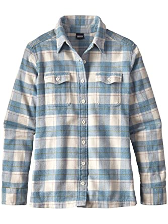 4f943f9f Patagonia Womens Long Sleeve Fjord Flannel Shirt Birch White Size 10 at  Amazon Women's Clothing store: