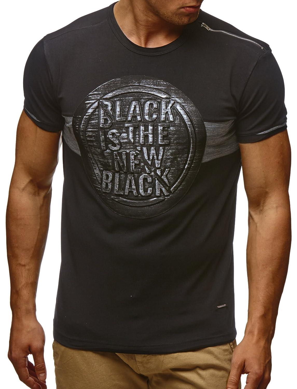 6058189fa92c LEIF NELSON Herren T-Shirt Sweatshirt Slim Fit LN795  Amazon.de  Bekleidung