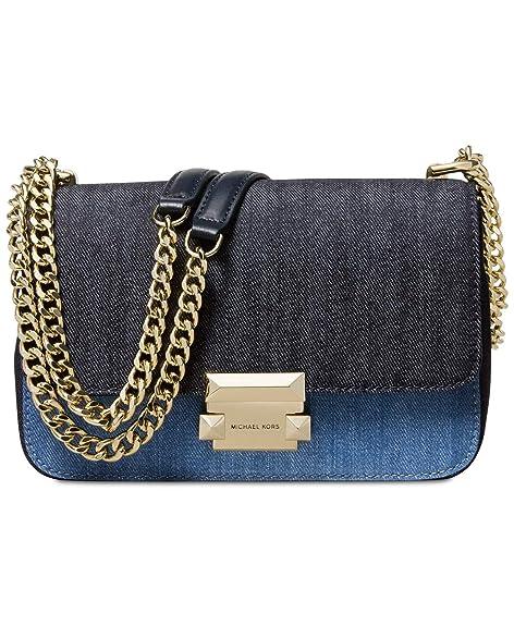 MICHAEL Michael Kors Sloan Denim Chain Small Shoulder Bag