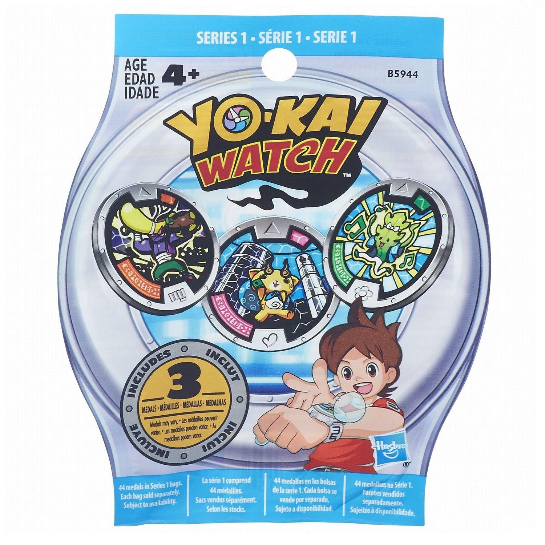 Yokai B5944 - Sobre con 3 medallas sorpresa (colores surtidos) Hasbro